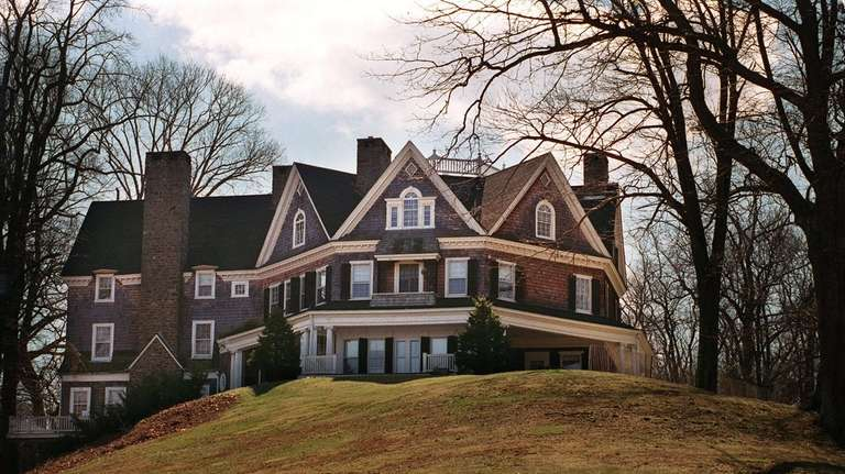 The octagonal Wetherill house, overlooking Stony Brook Harbor