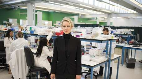 """Elizabeth Holmes in HBO's """"The Inventor: Out for"""