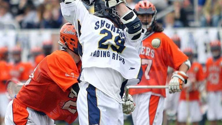 Shoreham's Kris Miller (29) with a behind-the-shoulder shot