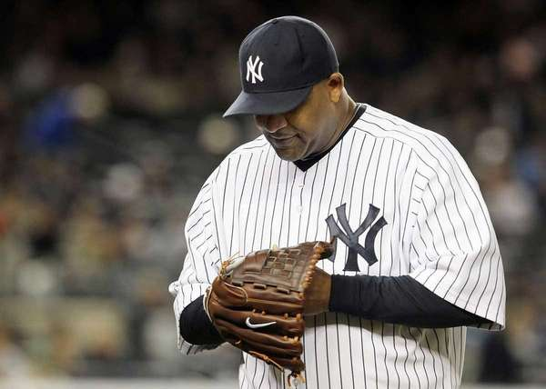 CC Sabathia (52) of the New York Yankees