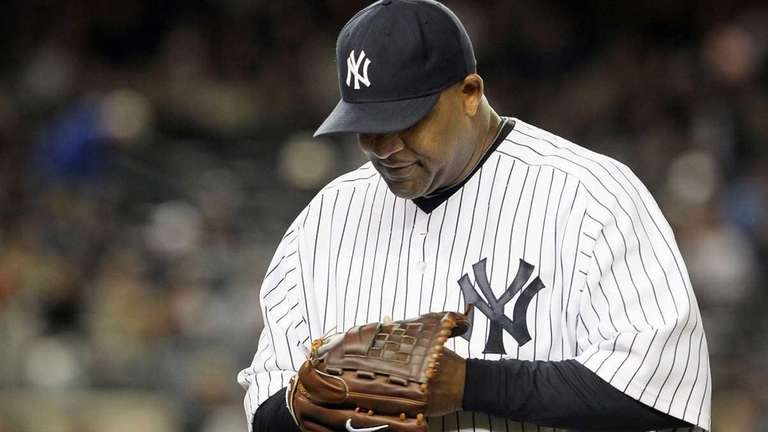 CC Sabathia (52) of the New York Yankees