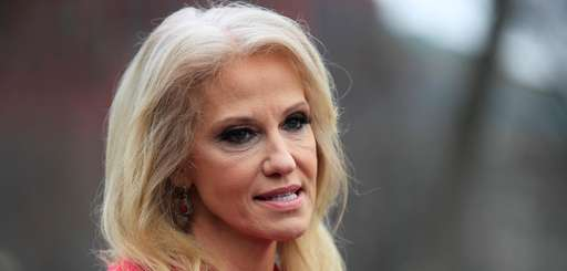 Counselor to the President Kellyanne Conway speaks to