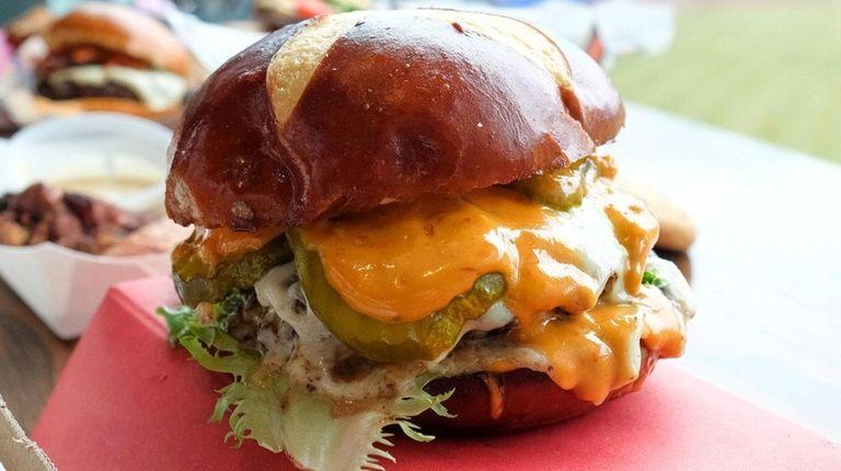 The Le Big Matt burger, featuring a double