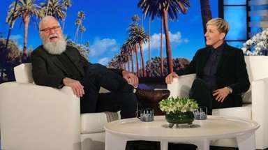 Legendary late-night host David Letterman makes his very
