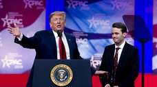 President Donald Trump and conservative activist Hayden Williams
