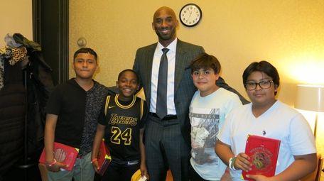 NBA Hall of Famer Kobe Bryant with Kidsday