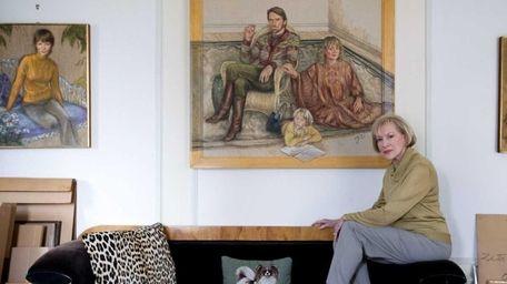 Painter Zita Davisson sits for a portrait in