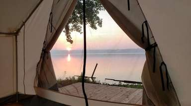 Terra Glamping will offer waterfront views of Gardiners