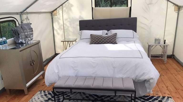 Terra Glamping will offer fully furnished, one-bedroom tents