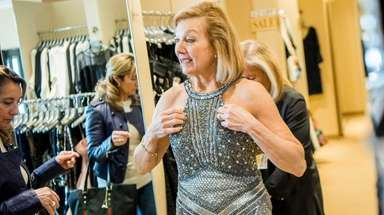 Danielle Graziano, of Brookville, gown-shopping at Mieka in