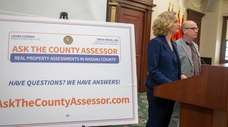 Nassau County Executive Laura Curran announces a new