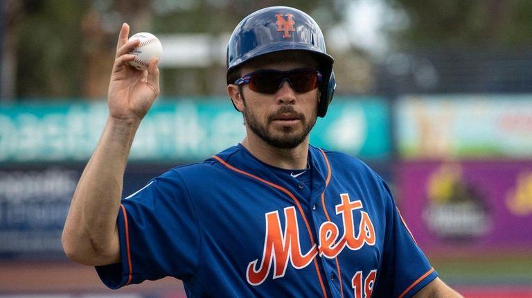 Mets catcher Travis d'Arnaud during a split-squad scrimmage