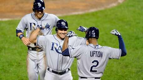 Johnny Damon #22 of the Tampa Bay Rays