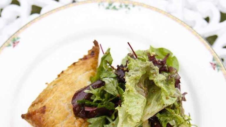 Brie en croute, with brie and wild mushrooms