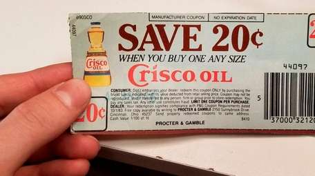 The 20 cent 1983 Crisco Oil coupon redeemed