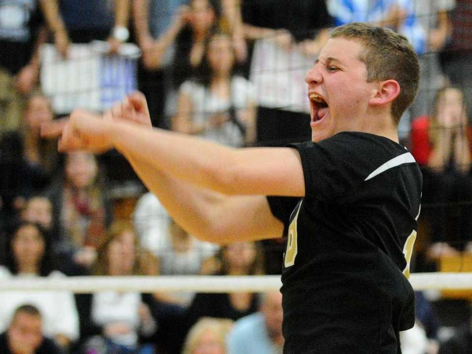 St. Anthony's Matthew Safranek reacts after the clinching
