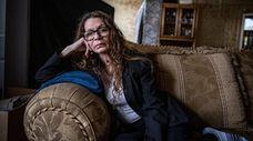 Lori Gerardi in her Patchogue apartment. Gerardi, who