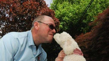 After a walk James Garfinkel gets a kiss