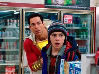 Zachary Levi (left) and Jack Dylan Grazer