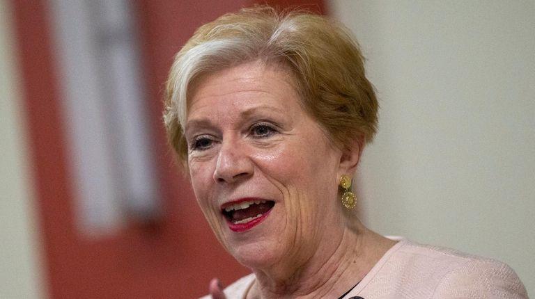 State Labor commissioner Roberta Reardon speaks to the