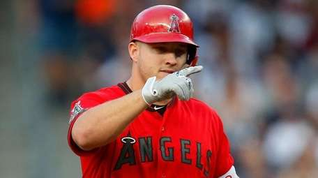 Mike Trout of the Los Angeles Angels at