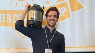 Mark Boccard of Southdown Coffee won third place