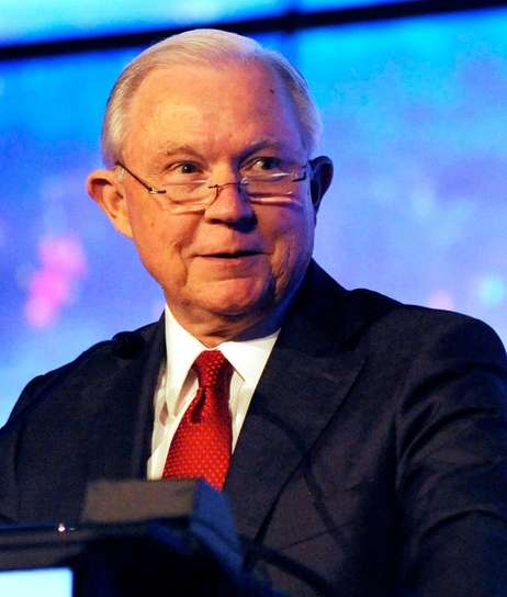 Former U.S. Attorney General Jeff Sessions addresses a