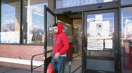 Carlos Gonzalez, 24, of Hempstead, leaves V &