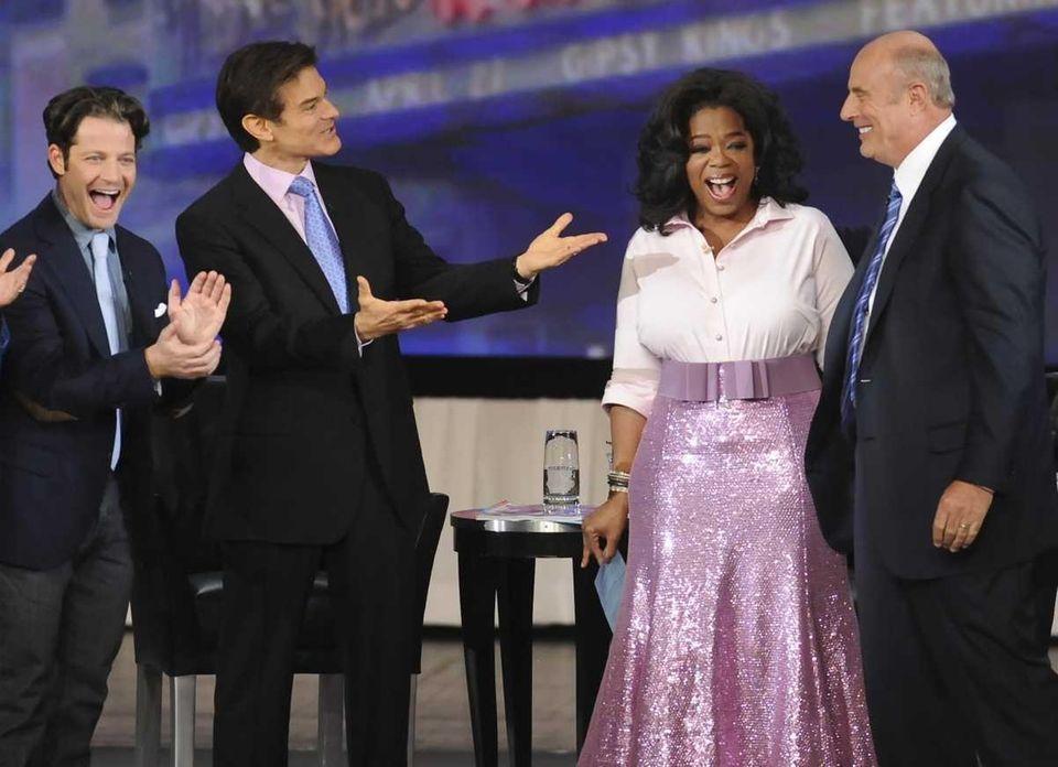 Oprah Winfrey is seen with interior designer Nate