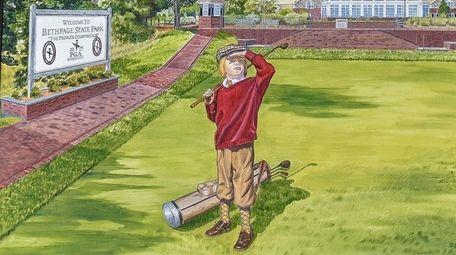 Artist Elaine Faith Thompson's PGA Bethpage poster.