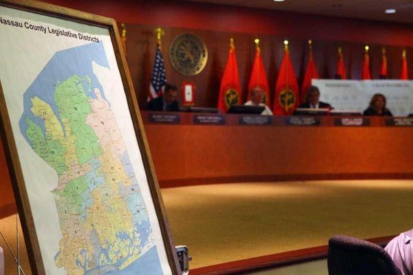 A file photo of the Nassau Legislature listening