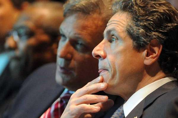 Gov. Andrew Cuomo and Nassau County Executive Edward