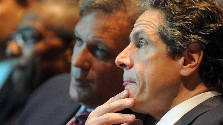 Gov. Andrew Cuomo and Nassau County Executive Edward