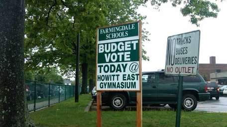 Signs at Howitt Middle School in Farmingdale, where