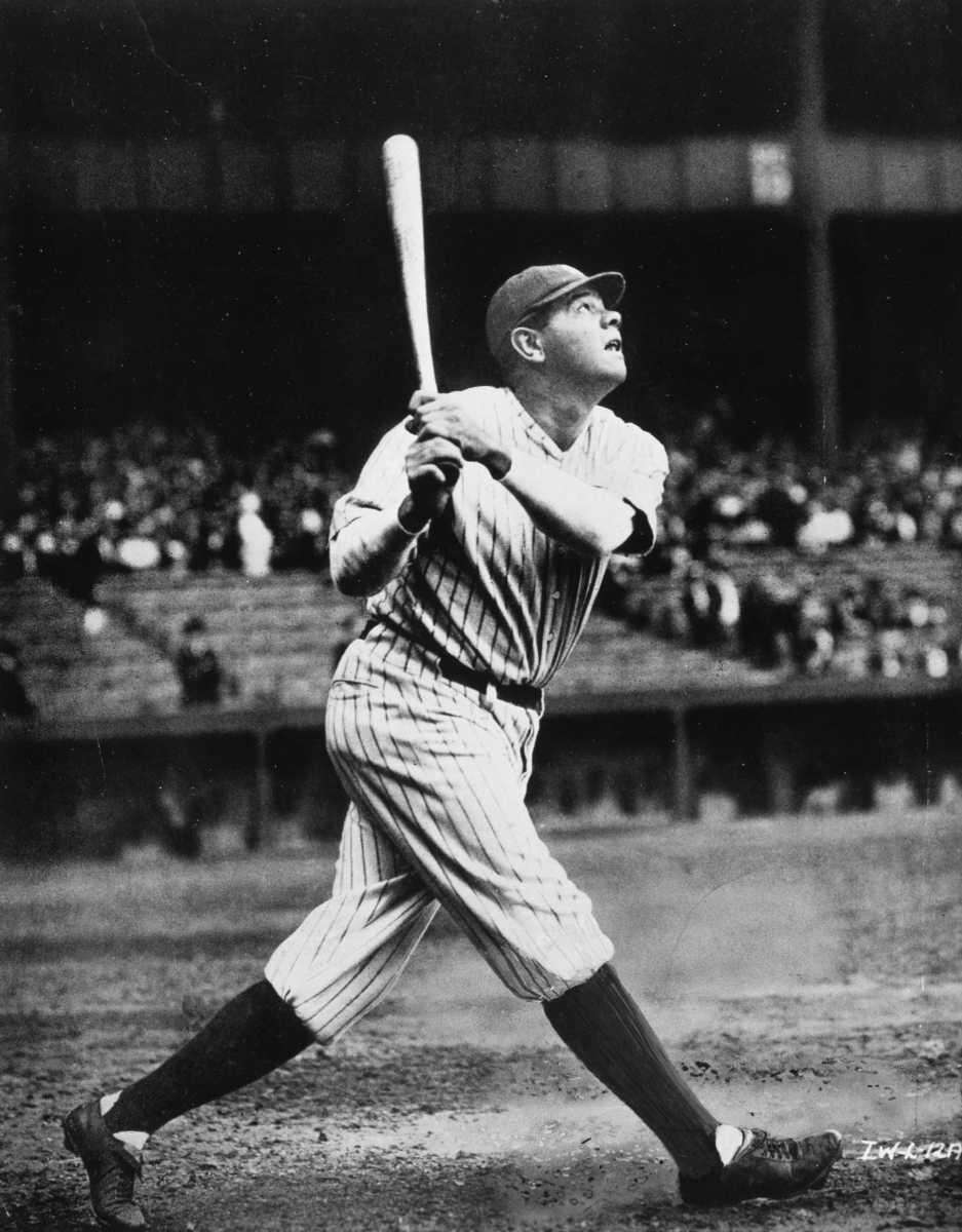 BABE RUTH: 714 - Played from 1914-35 (22