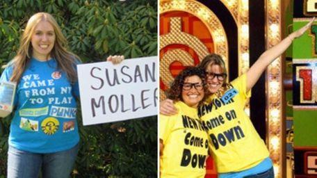 Sue Moller (far l.) and Toni Piazza (l.,