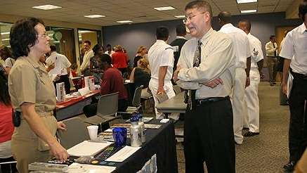 A job fair at the Brentwood Public Library