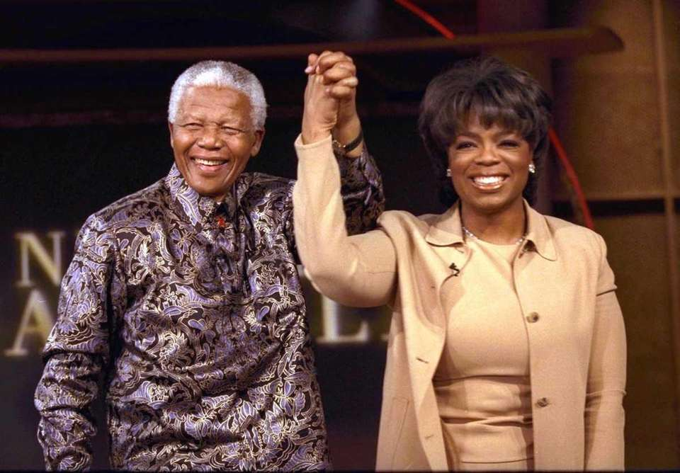 Former South African President Nelson Mandela joins talk-show