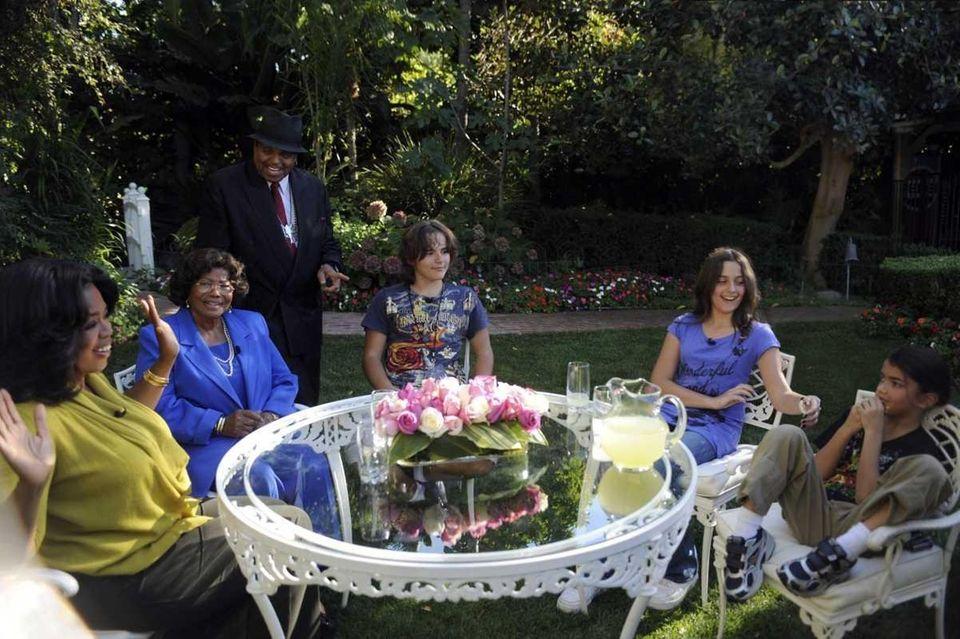 Talk-show host Oprah Winfrey is seen with the