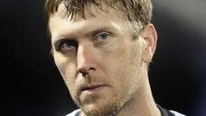 Mets' outfielder Jason Bay in the dugout during
