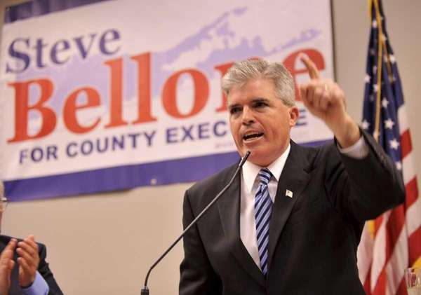 Babylon Town Supervisor Steve Bellone accepts the Suffolk