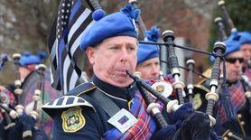 Marchers celebrate their Irish heritage in the Hampton