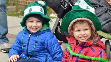 Cousins Liam McCormack, 4, and Lucia Toniolo, 3,