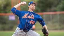 New York Mets pitcher Jacob deGrom during a