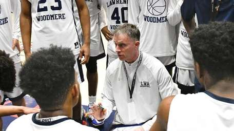 Lawrence Woodmere Academy head coach Jeff Weiss in