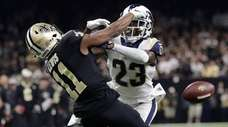 Los Angeles Rams' Nickell Robey-Coleman breaks up a