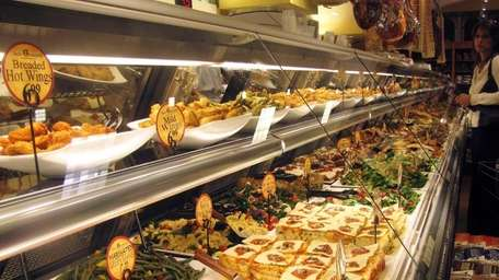 The prepared-foods counter at Uncle Giuseppe's in Massapequa,