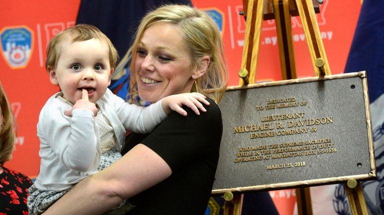 Eileen Davidson, the widow of firefighter Michael Davidson,
