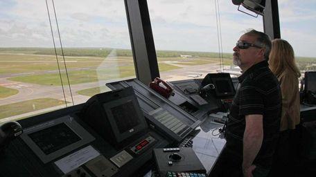Cliff Peschansky, an air traffic controller at Long