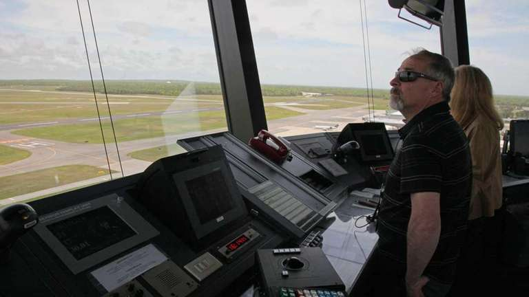 Cliff Peschansky, an air traffic controller at Long